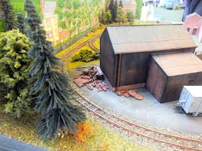 Photo: 019 A pile of bits and pieces behind the loco shed adds more authenticity .