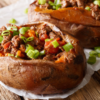 Taco Stuffed Sweet Potatoes.