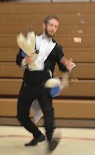 Photo: Brando juggles 9 clubs!