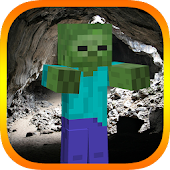ZombieCave Minecraft Wallpaper