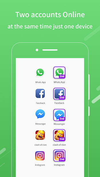 2Face-2 Accounts for whatsapp&social apps