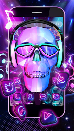 Download 3D DJ Skull Rock Music Theme On PC Mac With AppKiwi APK Downloader