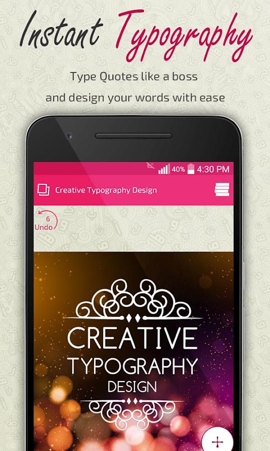 creative typography design android apps on google play