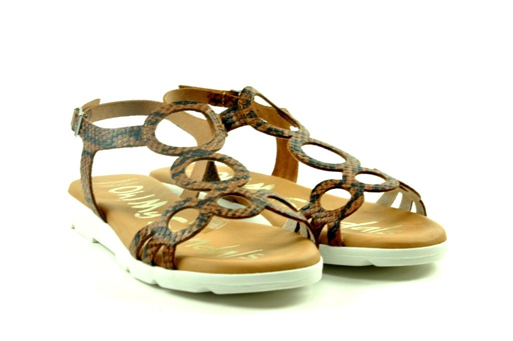 Sandaal in leder oh my sandals 4546