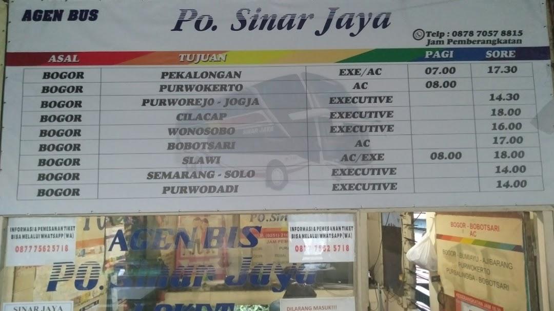 Agen Bis Sinar Jaya Baranangsiang Transportation Service