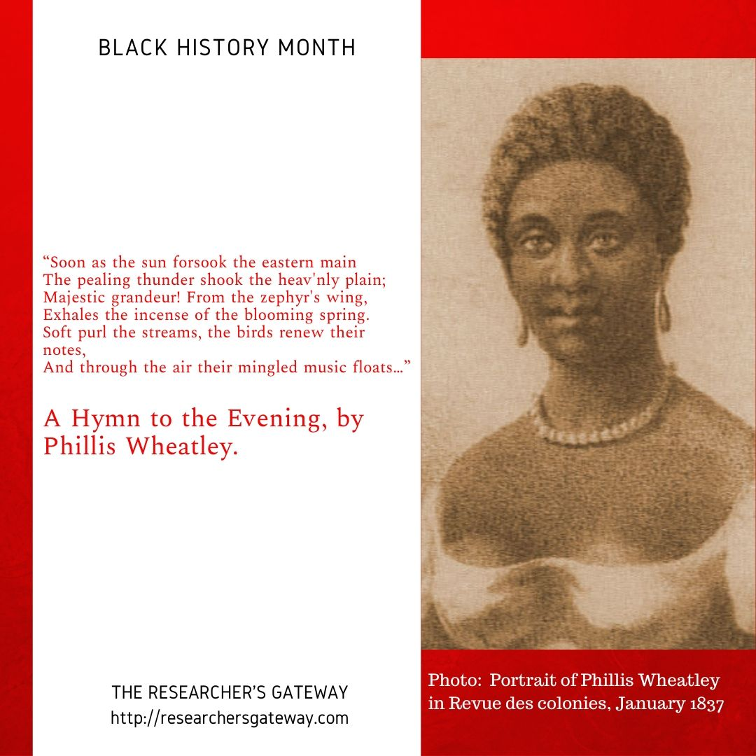 Phillis Wheatley A Hymn to the Evening