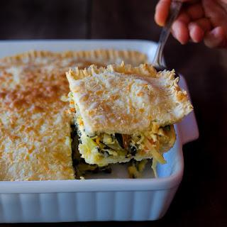 Spinach Feta Cheese Potato Pie.