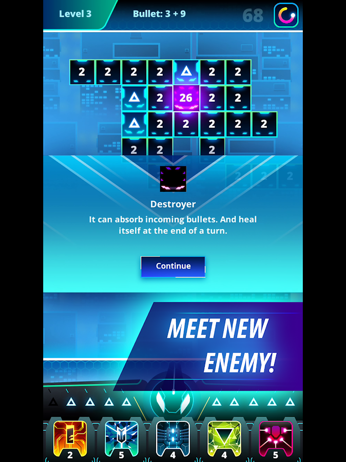 Microbot - Strategy Bricks Breaker- screenshot