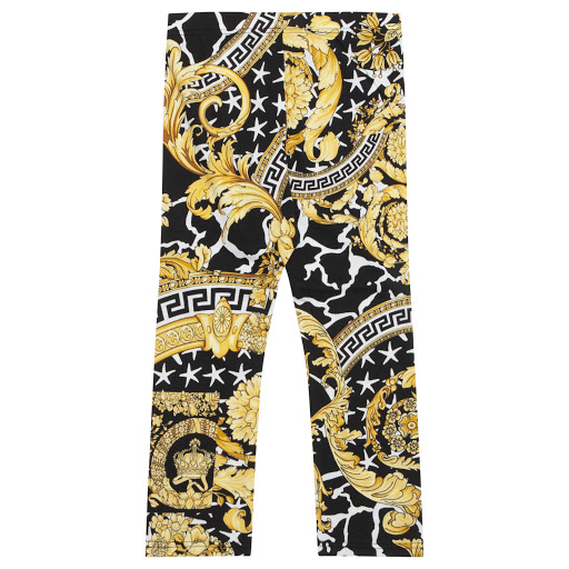 Thumbnail images of Young Versace Baroque Print Leggings