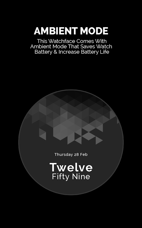 Fracty Digital Watch Face- screenshot