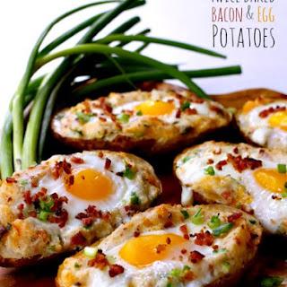 Twice Baked Bacon & Egg Potatoes