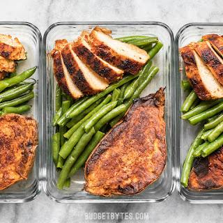 Smoky Chicken and Cinnamon Roasted Sweet Potato Meal Prep Recipe