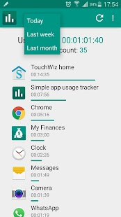 Simple app usage tracker - náhled