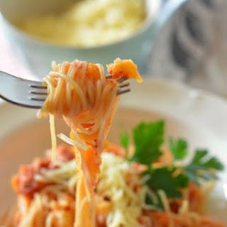 Spaghetti With Butternut Tomato Sauce