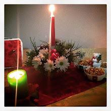 Photo: Christmas lights #intercer #christmas #light #flowers #candles #table #bouquet #candy #xmas #joy #silent #night #arrangement #design #dinner - via Instagram, http://ift.tt/1CrRWtS