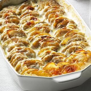 Super Simple Scalloped Potatoes.