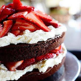 Chocolate Strawberry Nutella Cake.