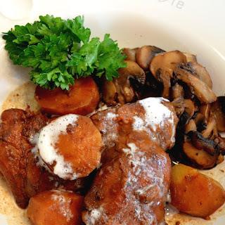 Slow Cooker Burgundy Chicken Stew