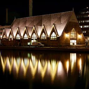 by Eva Larsson - Buildings & Architecture Public & Historical ( fish church in gothenburg sweden )