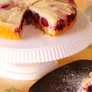 Blackberry Pear Upside-Down Cake