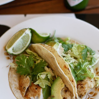 Grilled Green Fish Tacos.