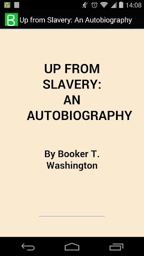Up from Slavery: Autobiography