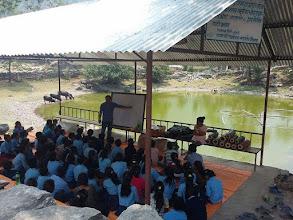 Photo: Mr. Tamang running the session at  Shree Raithane Secondary School