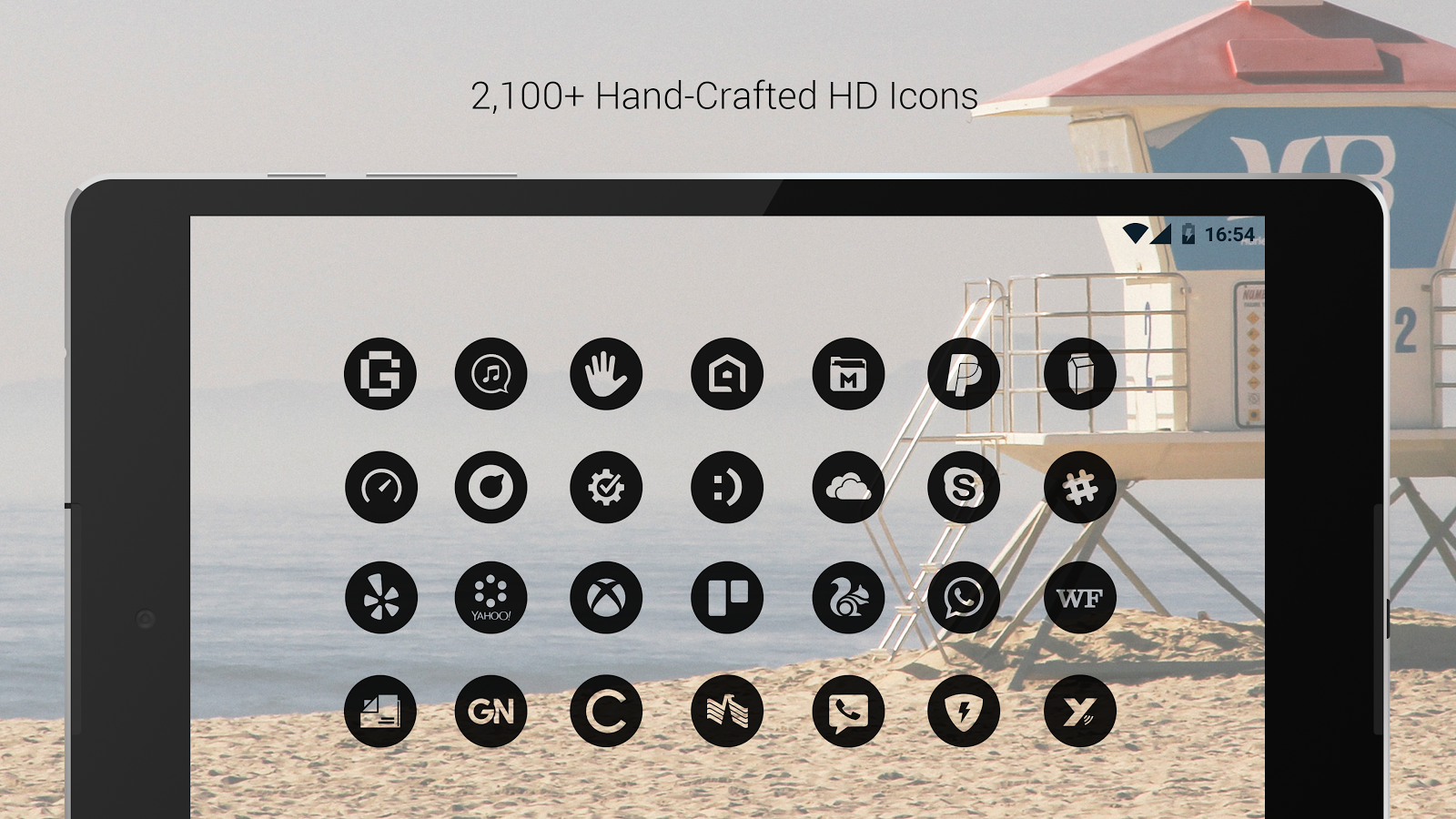 Dark Void - Black Circle Icons (Free Version)- screenshot