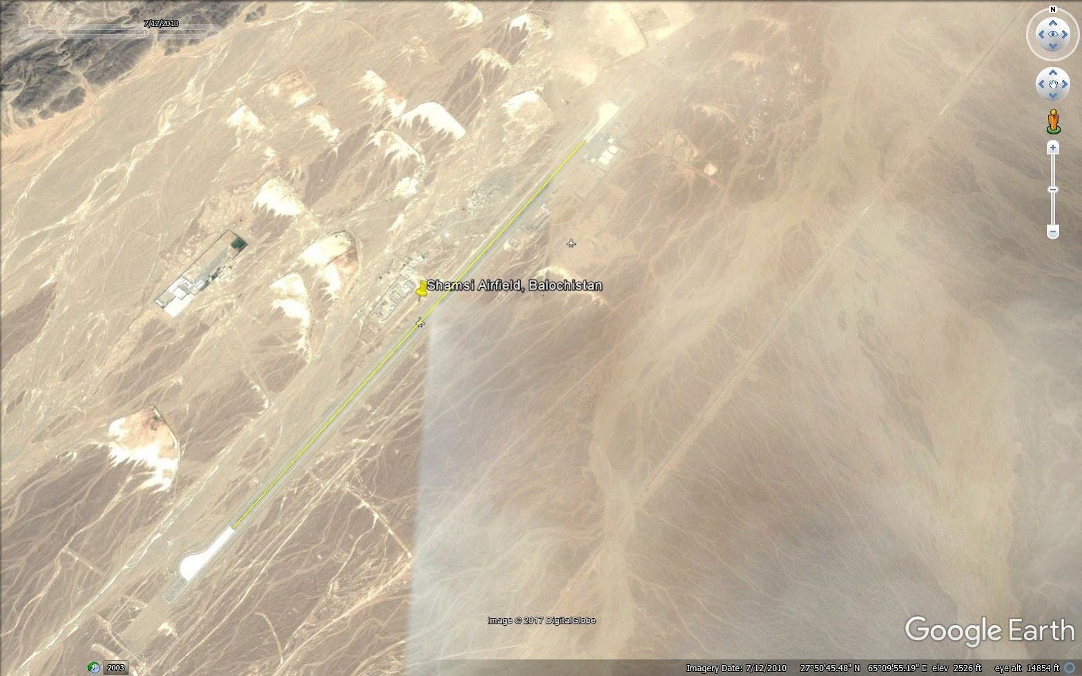 Shamsi Airfield, airstrip length 2.3 km