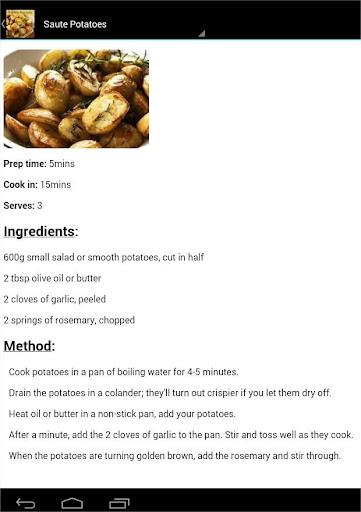 Potato recipes 2.0 screenshots 2