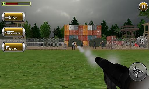 Lone Commando Sniper Shooting