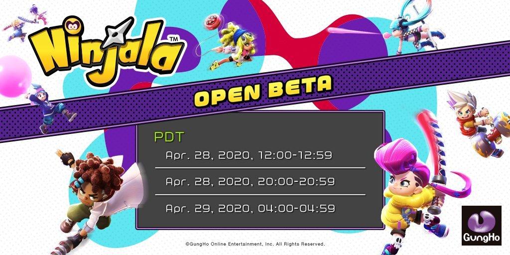 Ninjala Open Beta information
