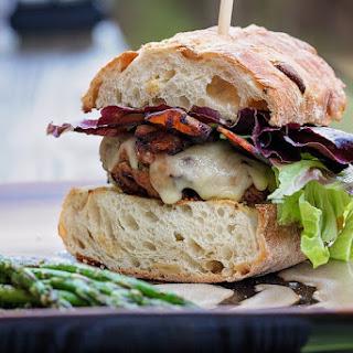 Zesty Garden Turkey Burgers With Grilled Asparagus.