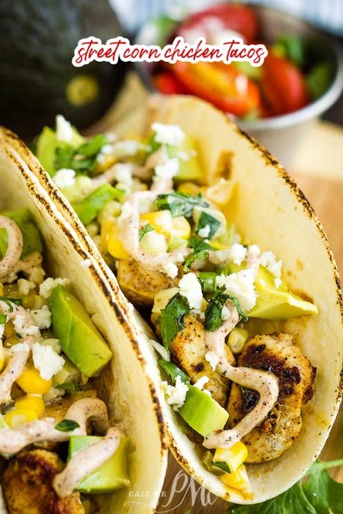 Street Corn Chicken Taco Recipe