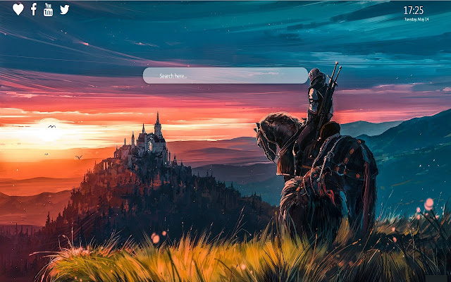 Witcher 3 Wallpaper New Tab Background