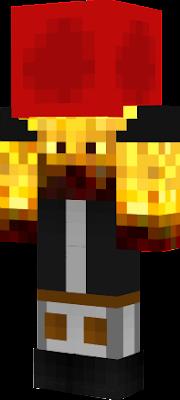 TheBlazeMC with a redstone block in the head.