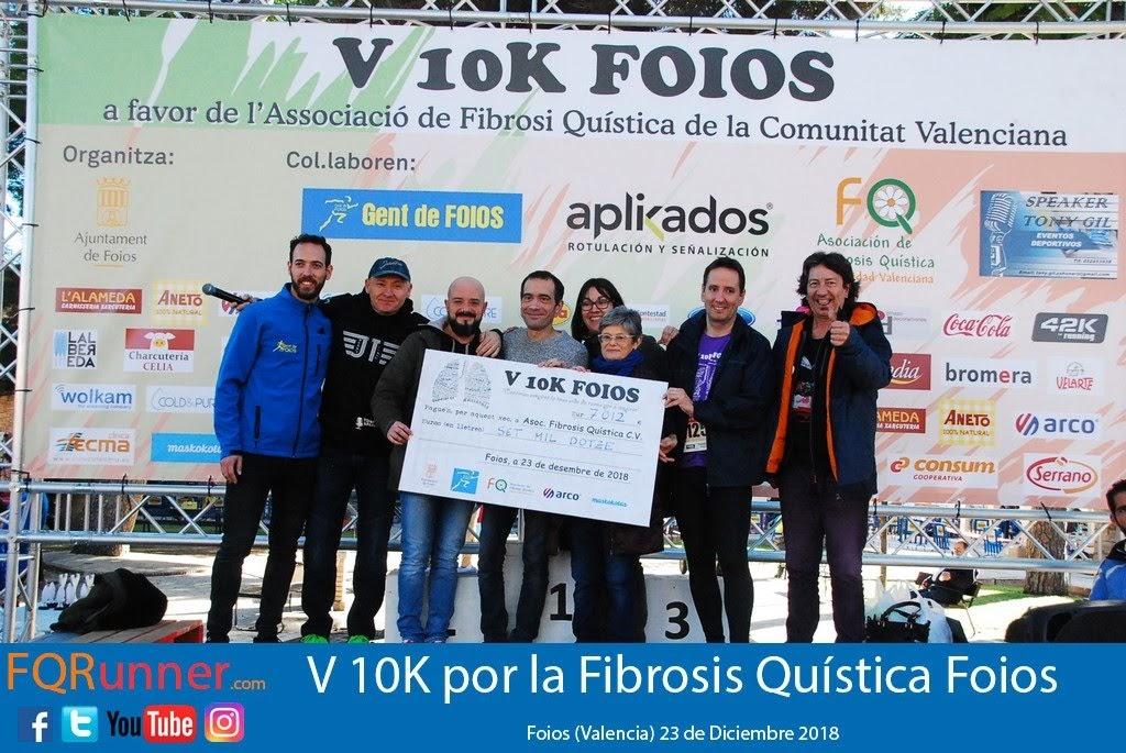entrega de un cheque 7.012€ en beneficio de la Asociación de Fibrosis Quística de la comunidad valenciana