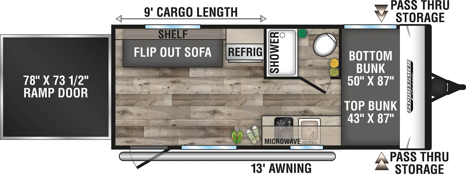 sportsmen classic lightweight travel trailer floor plan