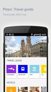 Plzen: Offline travel guide - náhled