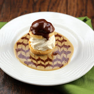 Irish Coffee Profiteroles with Chocolate Whiskey Sauce.