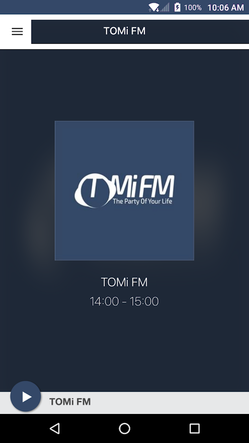 TOMi FM- screenshot