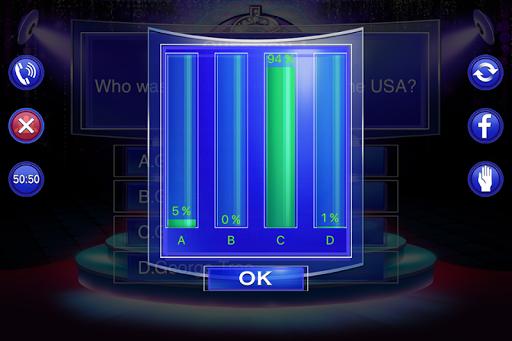Millionaire Quiz 2018 - Trivia Game Free 2.3 screenshots 5