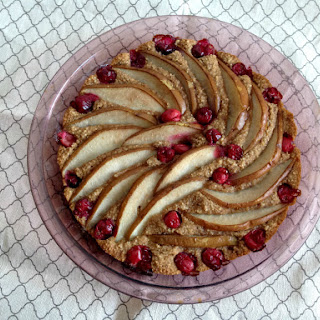 Vegan and Gluten-Free Pear Cranberry Almond Cake