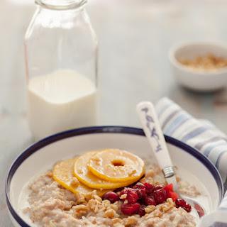 Vanilla Spelt Porridge with Caramelized Quince and Cranberries Recipe