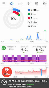 Notify & Fitness for Mi Band Screenshot
