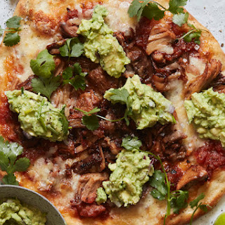 Carnitas and Guacamole Pizza.