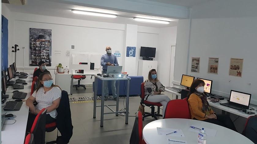Asistentes al taller impartido en Tíjola.