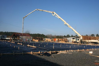 Photo: Stretching the 52 Meter Pump out for Concrete in Camak ,Ga.