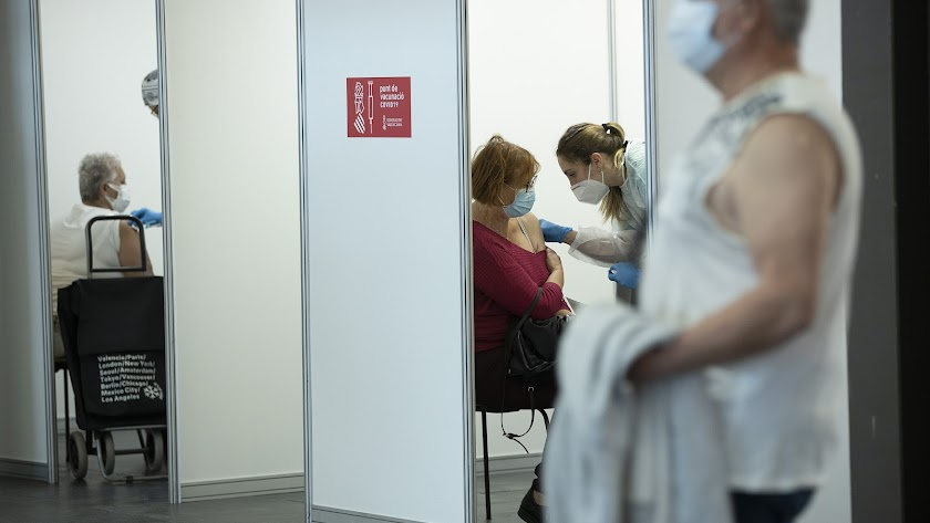 Vacunación masiva en la Comunidad Valenciana.