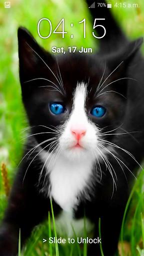 Kitty Cat Pin Lock Screen 6.2 screenshots 9